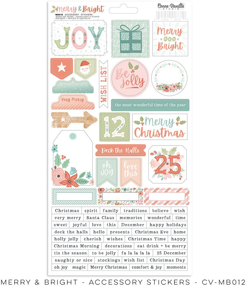 Accessory Stickers, Merry & Bright
