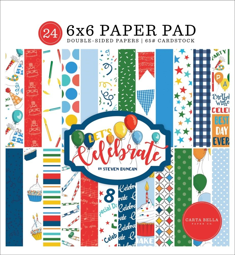 6X6 Paper Pad, Let's Celebrate
