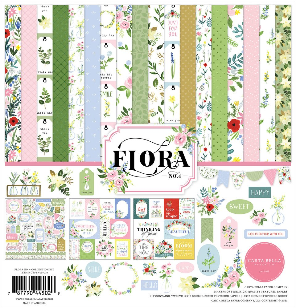 12X12 Collection Kit, Flora No.4