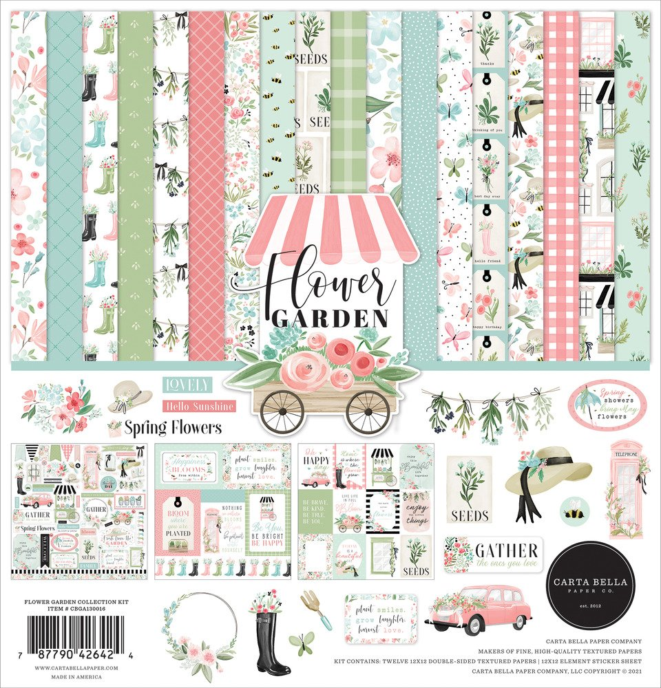 12X12 Collection Kit, Flower Garden
