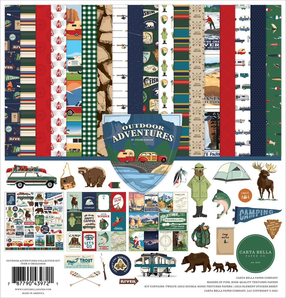 12X12 Collection Kit, Outdoor Adventures