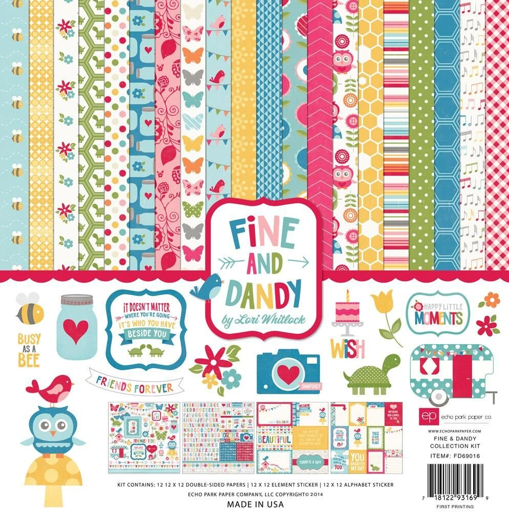 Echo Park Fine and Dandy 12x12 Collection Kit