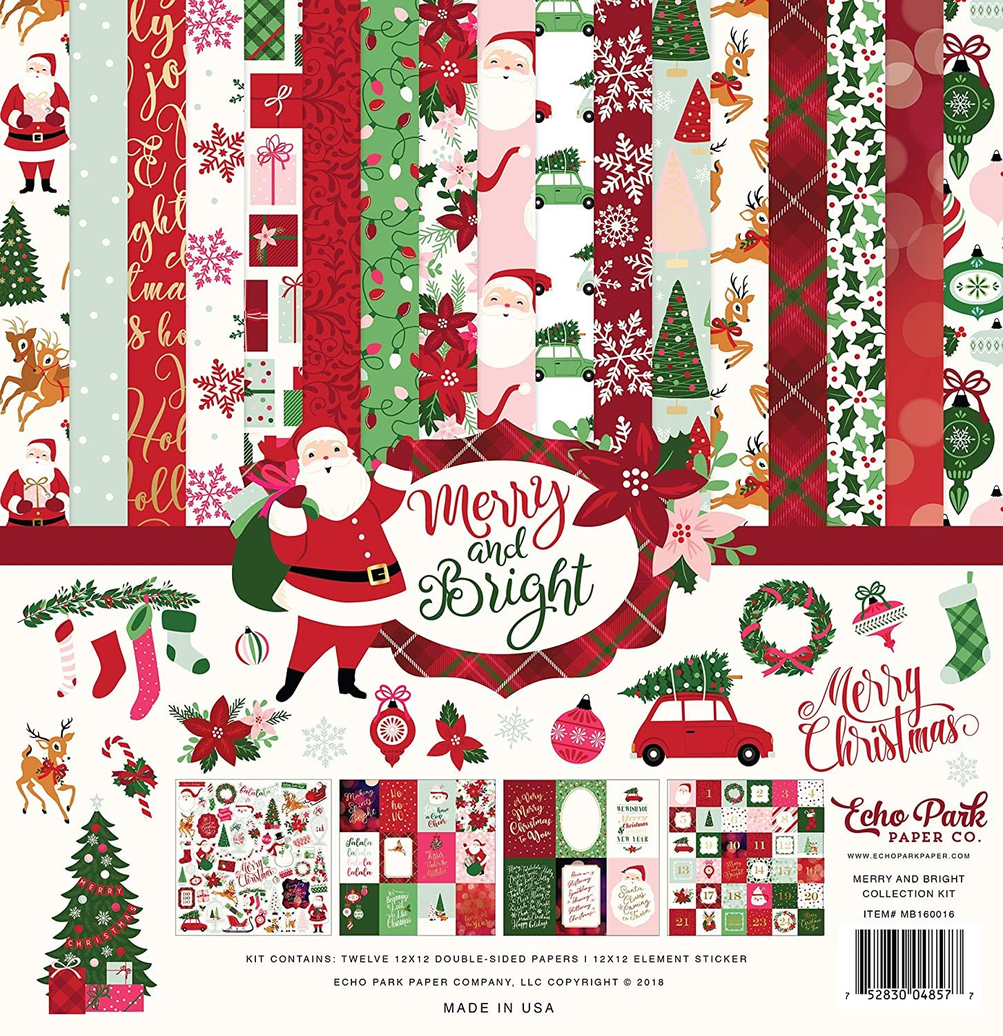 Echo Park Merry and Bright 12x12 Collection Kit