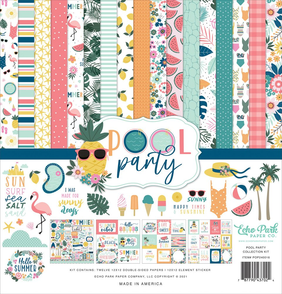 12X12 Collection Kit, Pool Party