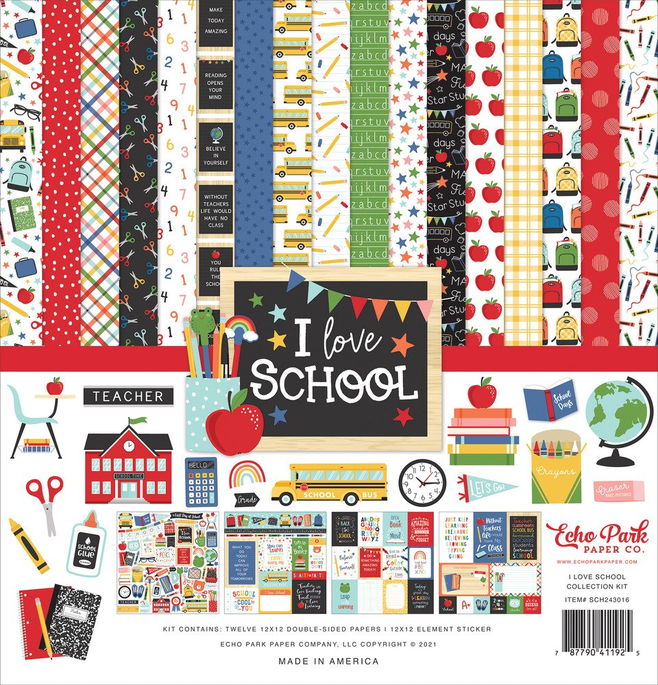 12X12 Collection Kit, I Love School