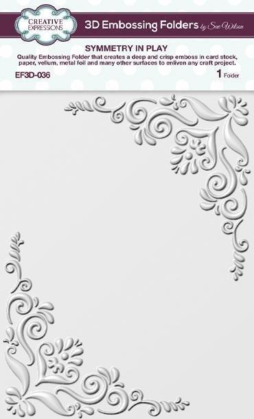 Symmetry In Play 5 3/4 in x 7 1/2 in 3D Embossing Folder