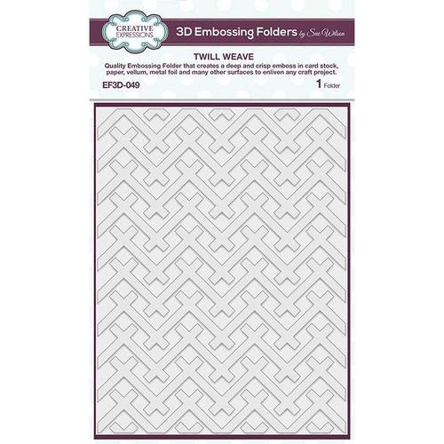 Creative Expressions Twill Weave 5 3/4 in x 7 1/2 in 3D Embossing Folder