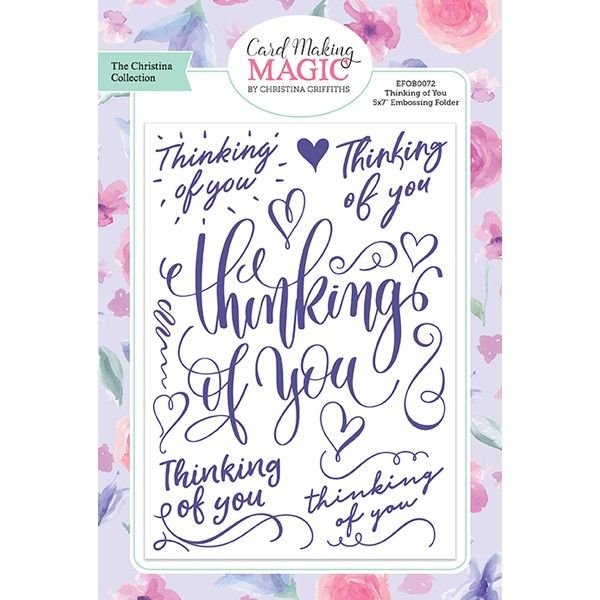 Card Making Magic Embossing Folder Thinking of You