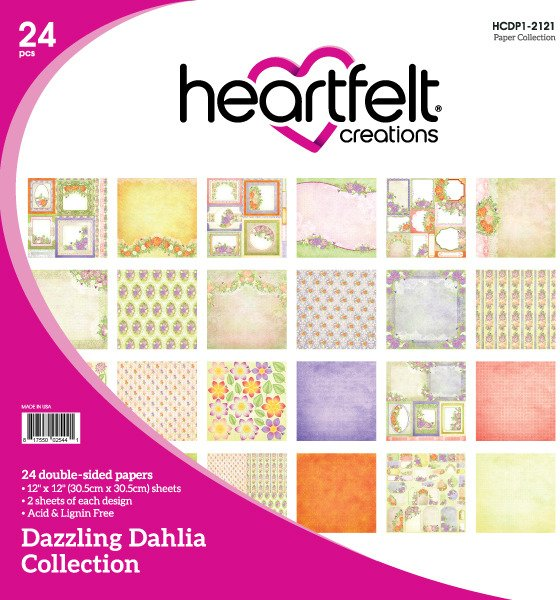 12X12 Paper Collection, Dazzling Dahlia