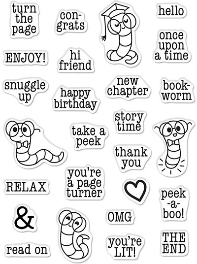 Clear Stamp, Bookworm Messages