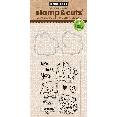 Hero Arts Stamp and Cuts, Baby Animals