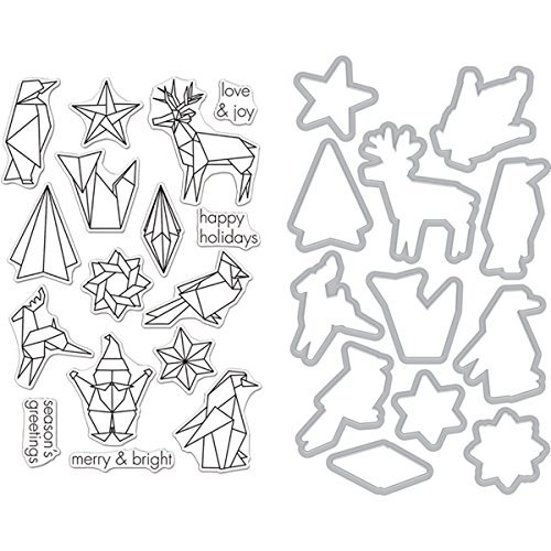 Hero Arts Clear Stamp and Die, Origami Holiday