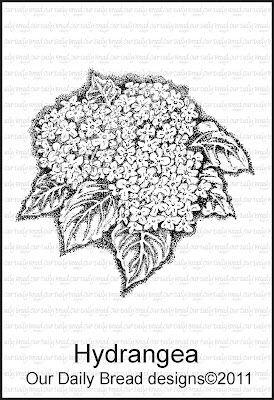 Stamp, Hydrangea