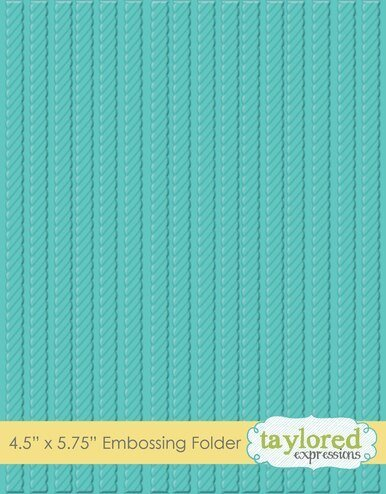TE Know The Ropes Embossing Folder