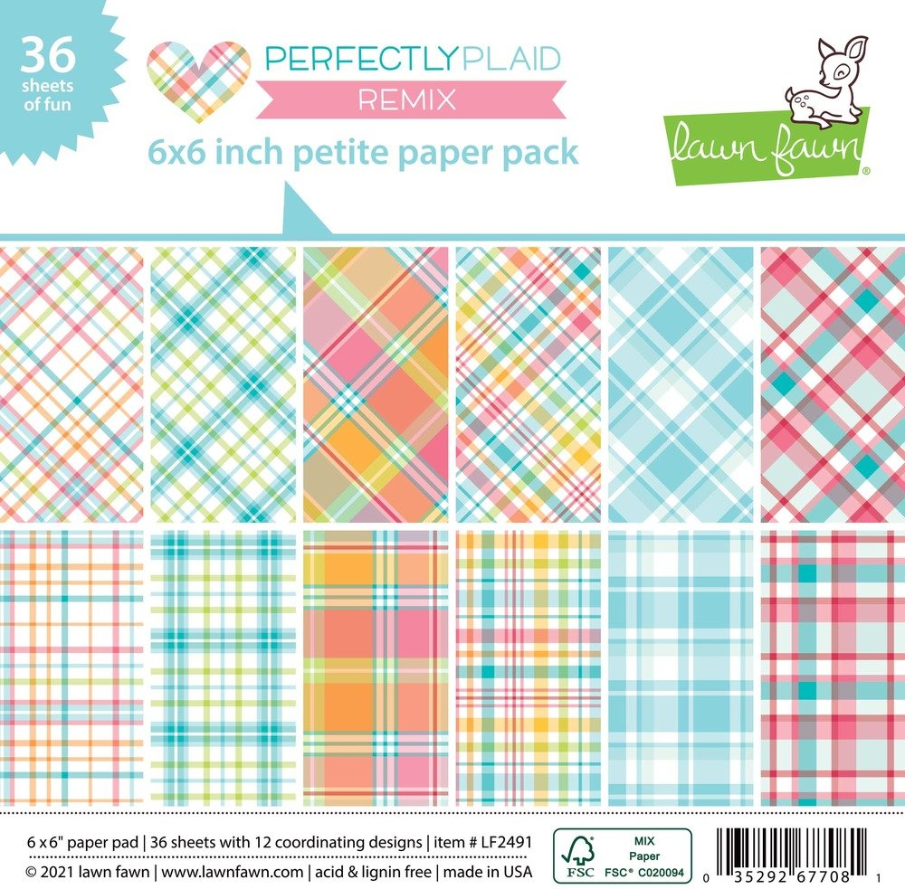 6X6 Petite Paper Pack, Perfectly Plaid Remix