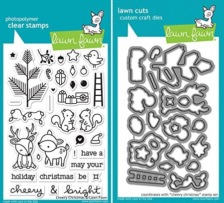 Clear Stamp and Die, Cheery Christmas