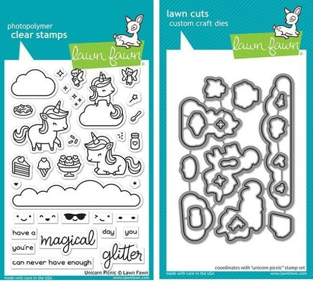 Clear Stamp and Die, Unicorn Picnic