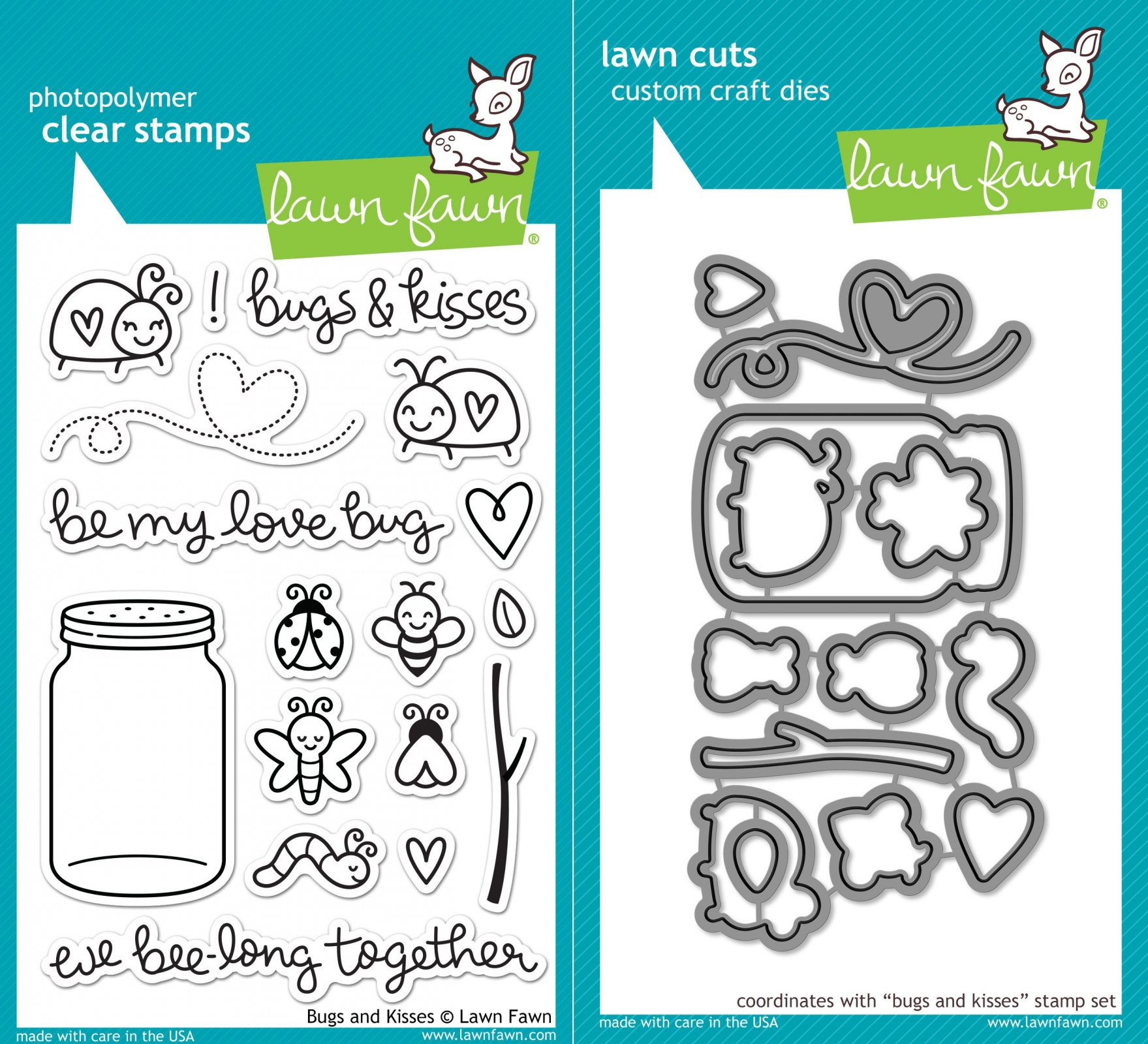Clear Stamp and Die, Bugs and Kisses