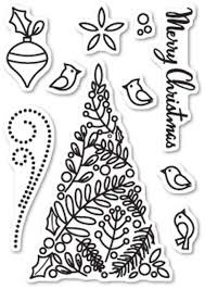 Clear Stamp and Die, Botanical Christmas Tree