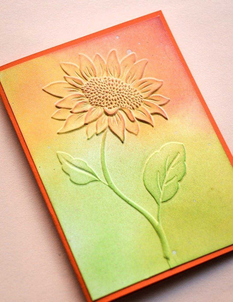 3D Embossing Folder, Magnificent Sunflower