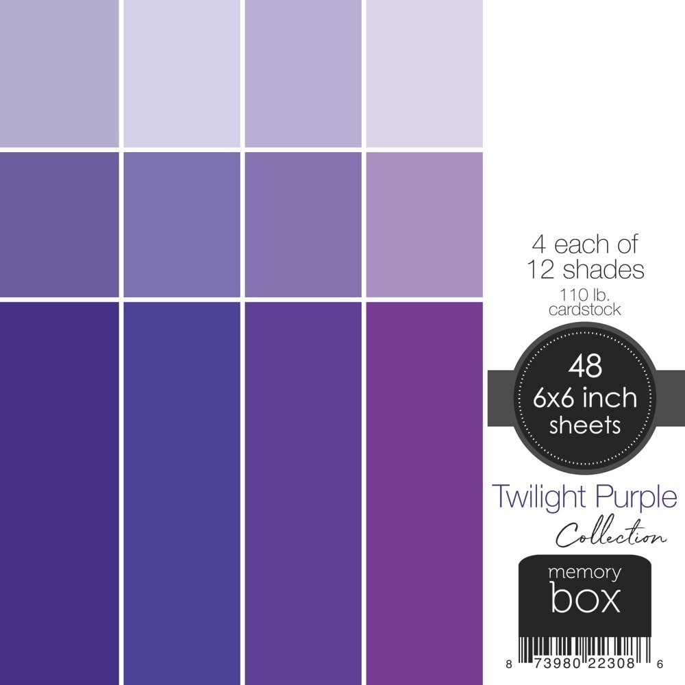 6X6 Paper Pack, Twilight Purple