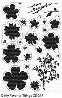 Clear Stamp and Die, Pressed Flowers