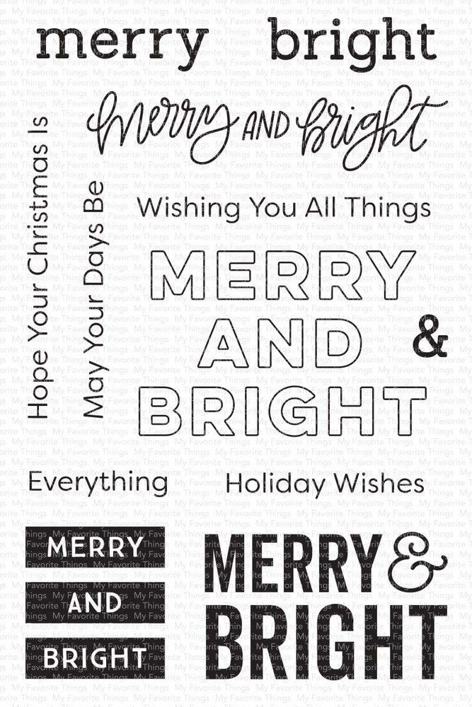 Clear Stamp, Merry & Bright