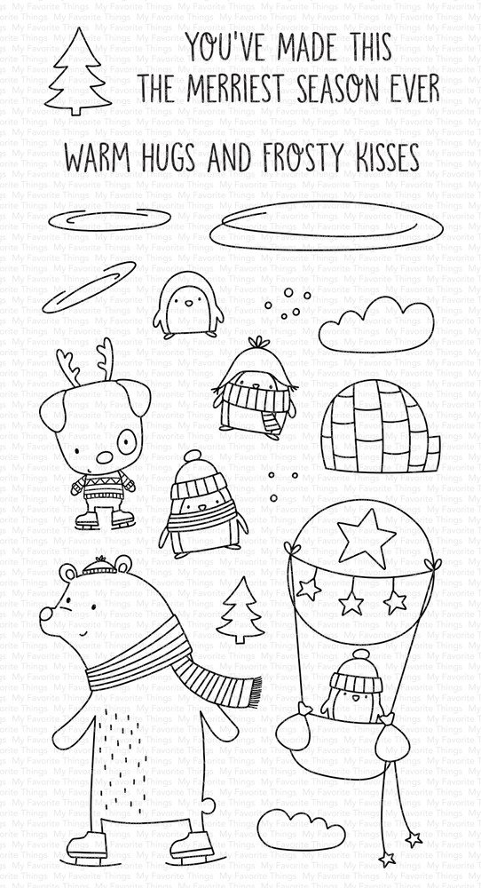 Clear Stamp, Warm Hugs and Frosty Kisses
