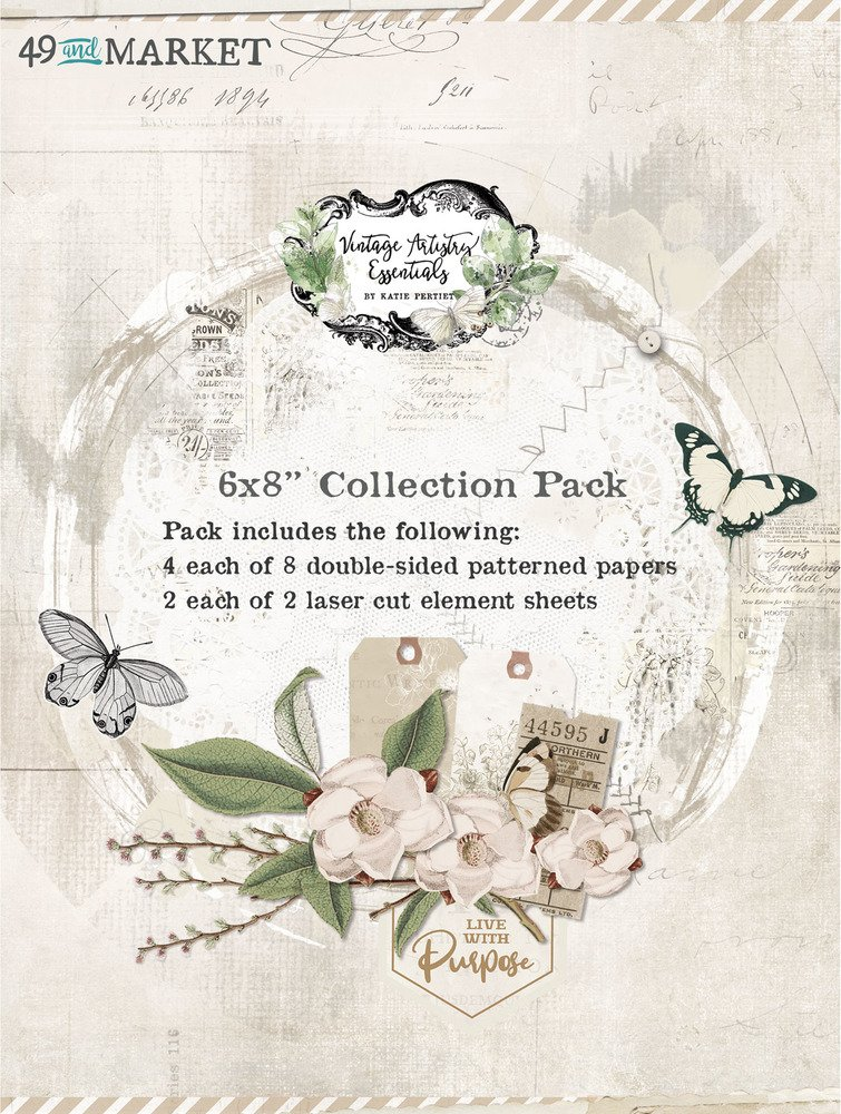 6X8 Collection Pack, Vintage Artistry Essentials