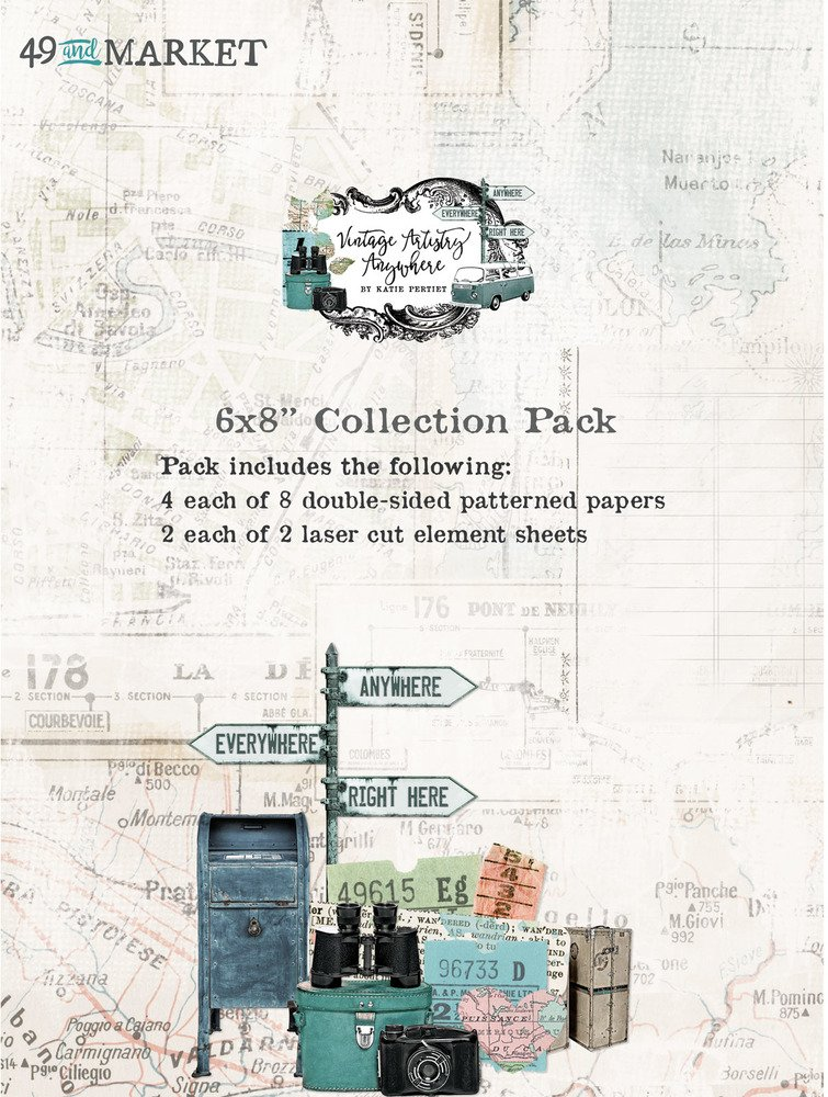 6X8 Collection Pack, Vintage Artistry Anywhere