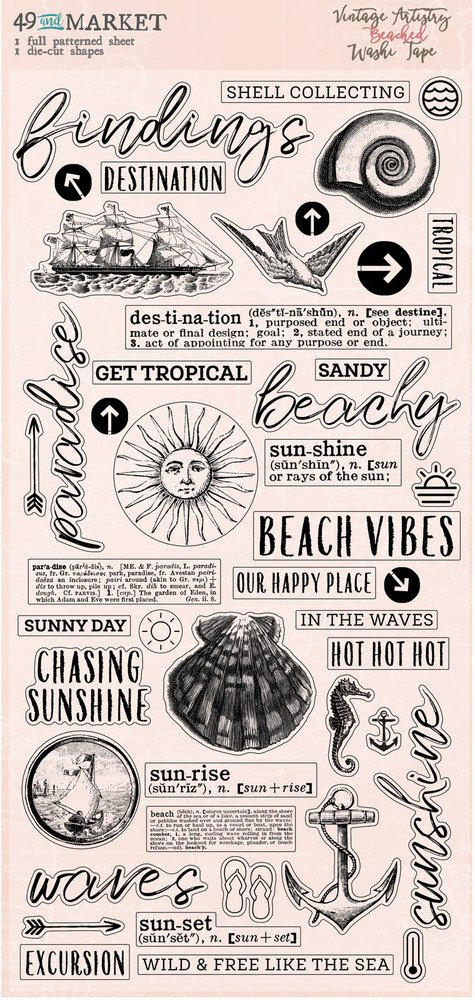 Washi Tape, Vintage Artistry Beached