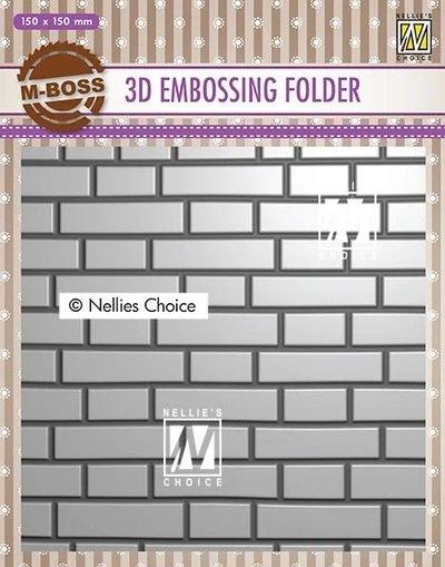 3D Embossing Folders Brick Wall