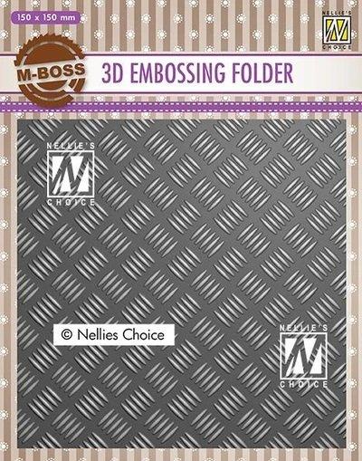 3D Embossing Folders Strip Pattern 1