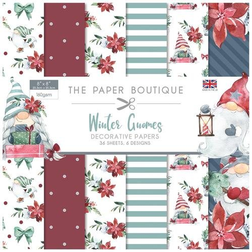The Paper Boutique Winter Gnomes 8x8 Paper Pad