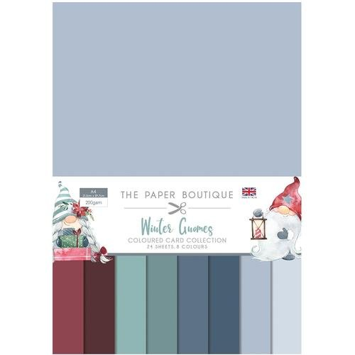 The Paper Boutique Winter Gnomes Colour Card Collection