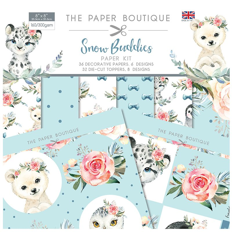 The Paper Boutique Snow Buddies Paper Kit