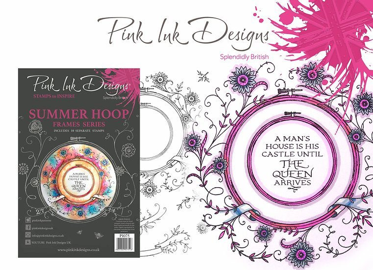 Pink Ink Designs Stamp - Frames - Summer Hoop