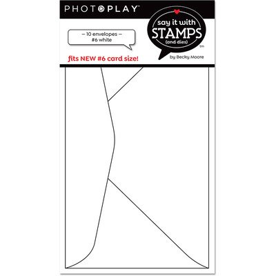 Envelopes, Say It With Stamps - #6 White (10pk)
