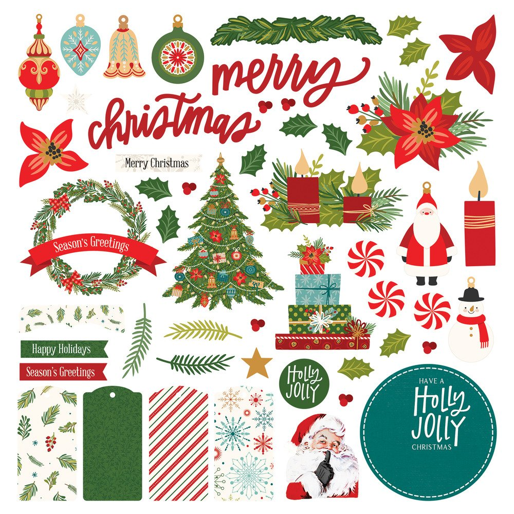 12X12 Card Kit Stickers, The North Pole Trading Co.