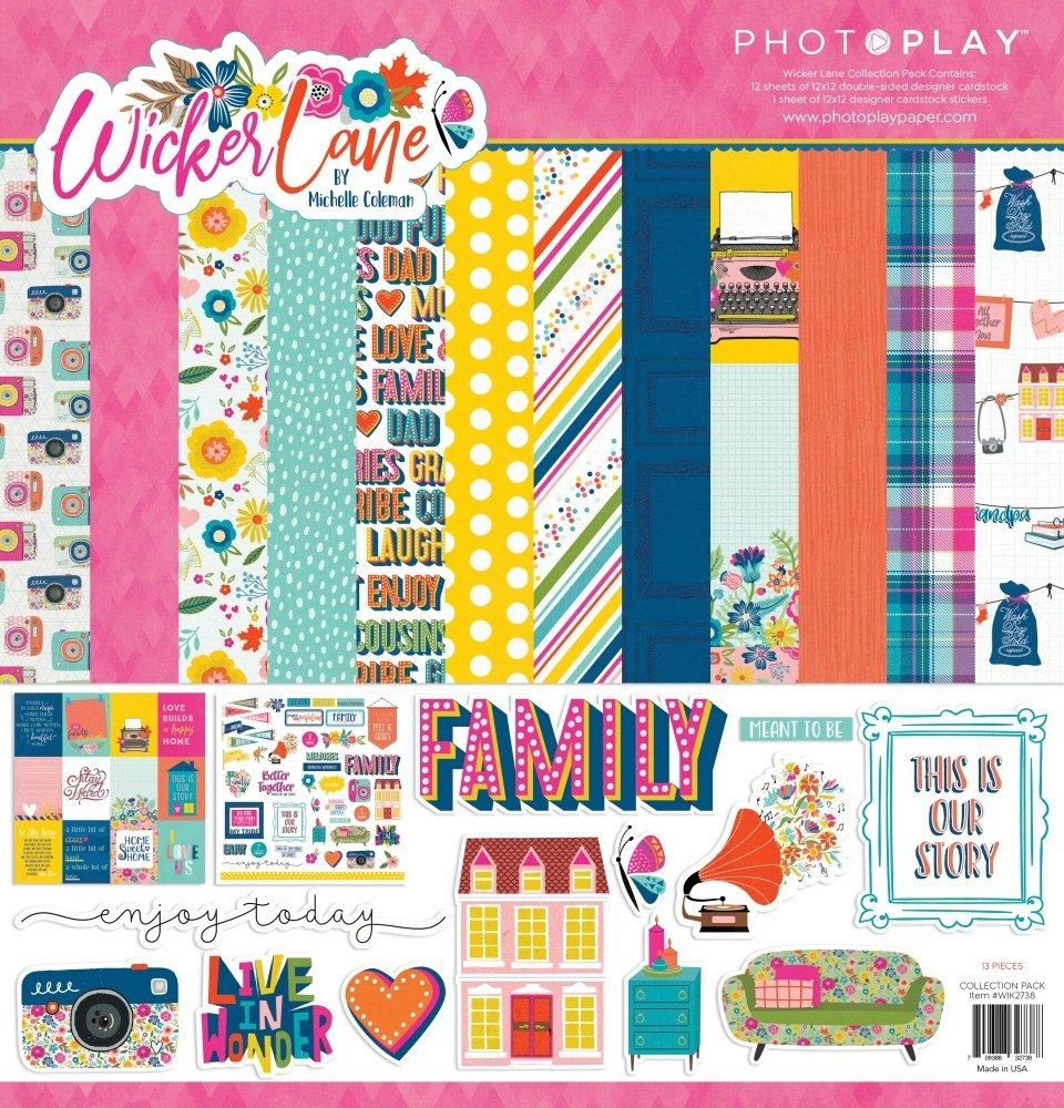 12X12 Collection Pack, Wicker Lane