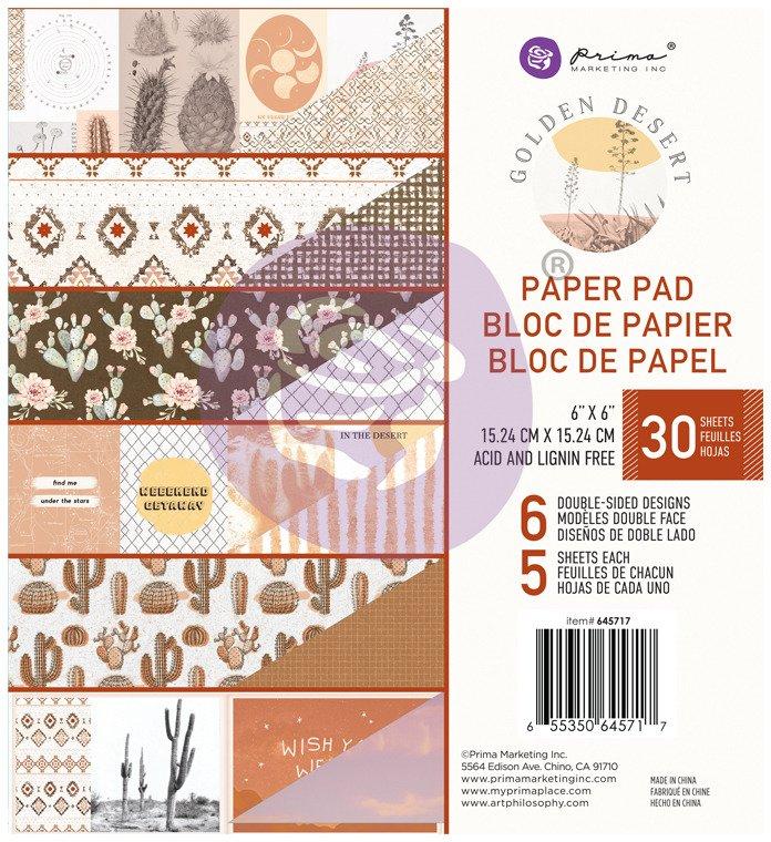 6X6 Paper Pad, Golden Desert