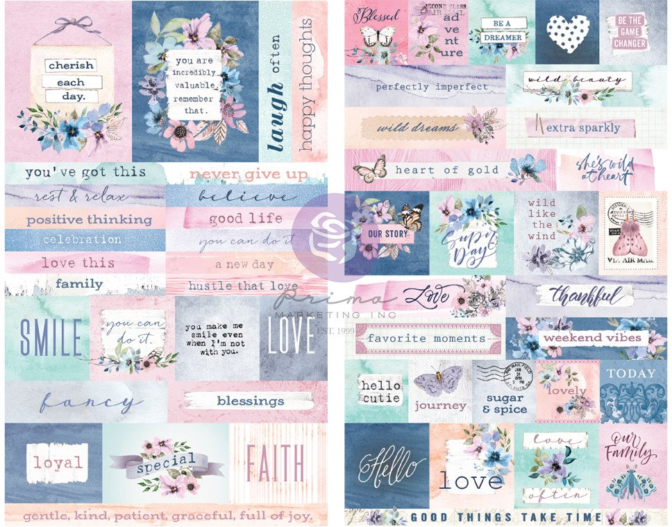 Stickers, Watercolor Floral