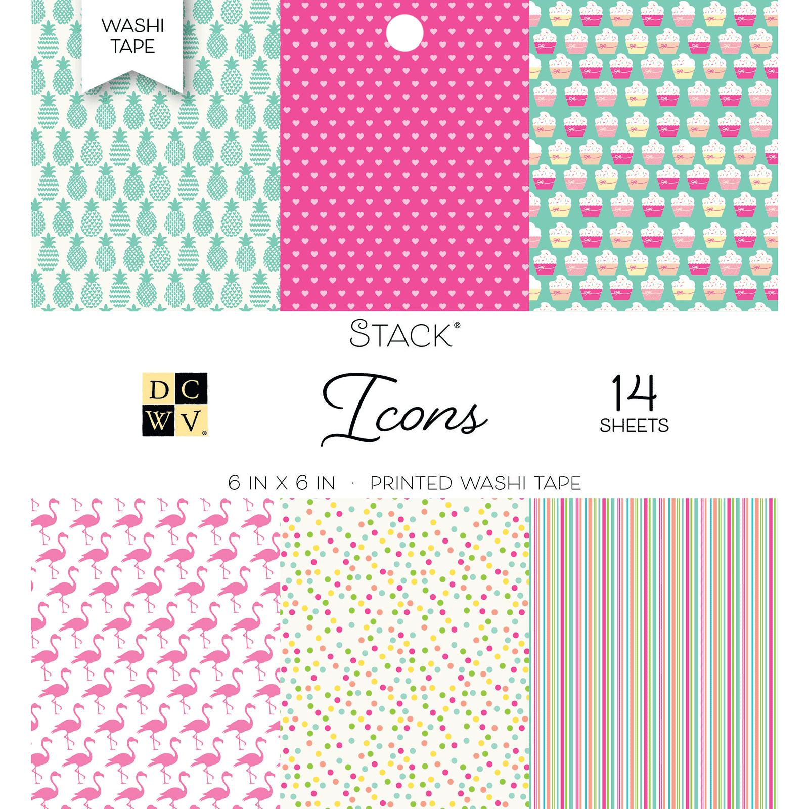 6 X 6  PAPER STACK WASHI ICON PRINTS