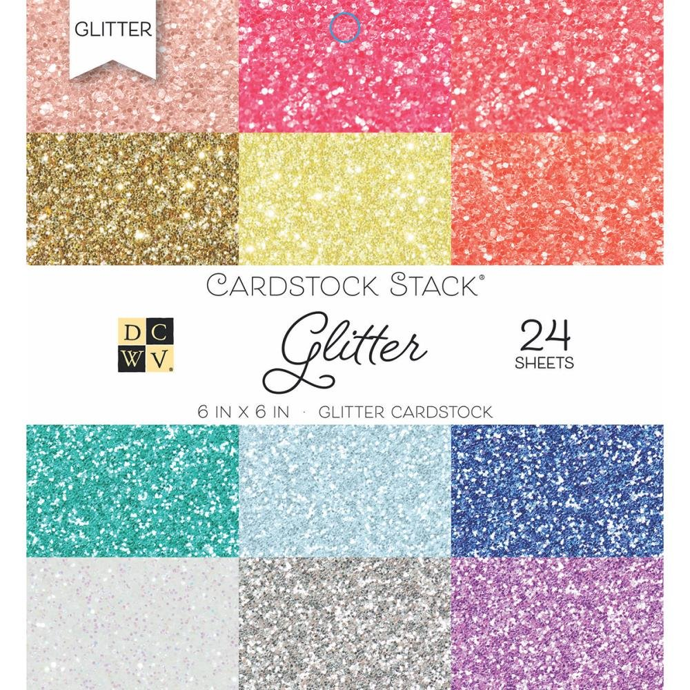 Die Cuts with a View - Glitter - Paper Stack - 6 x 6