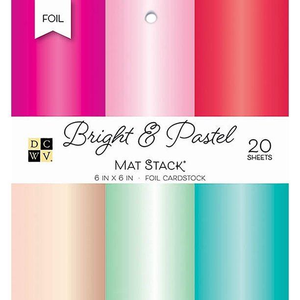DCWV - Bright & Pastel Foil Cardstock Pad 6X6