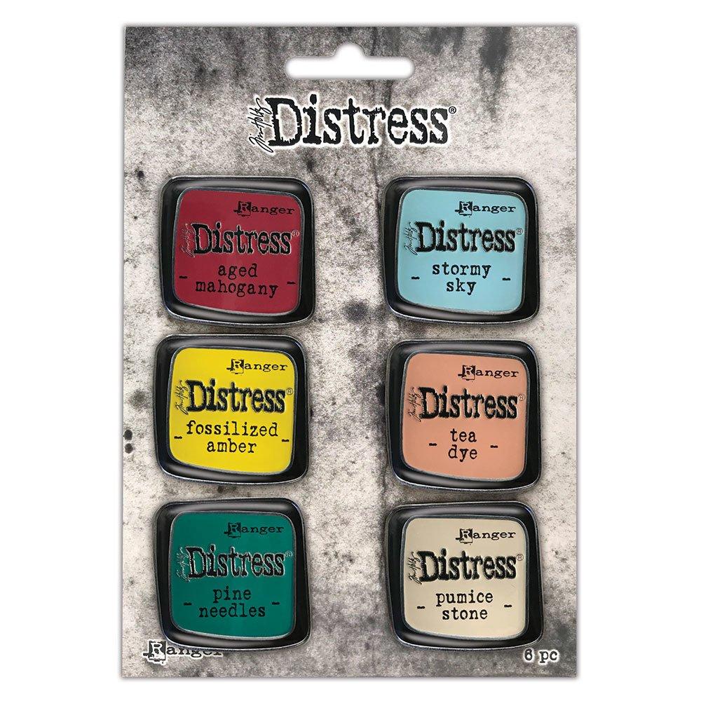 Distress Enamel Collector Pin Set, 10