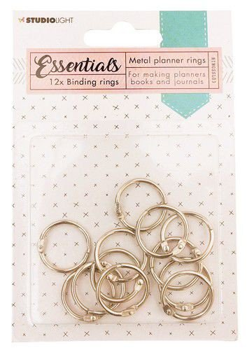 Binding rings Silver Planner Essentials 23mm 12 PC nr.3