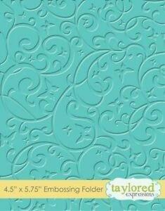 TE butterfly swirls Embossing Folder