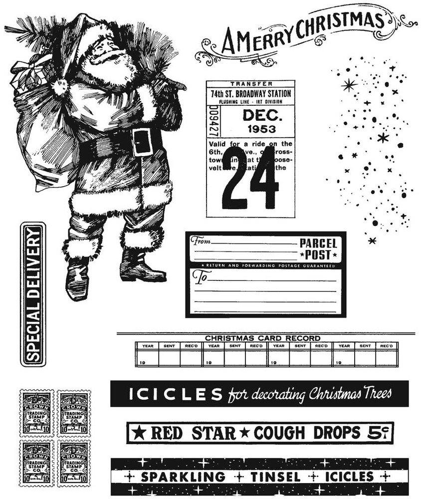 Cling Stamp, Vintage Holidays