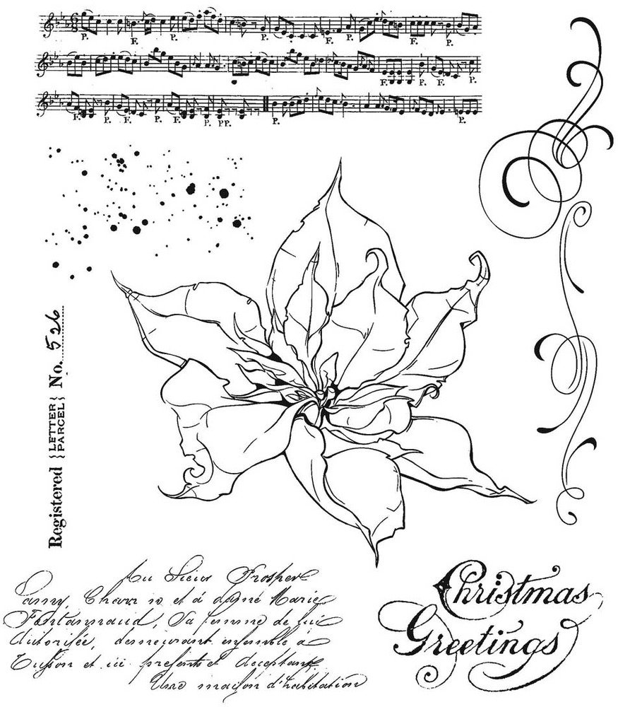 Cling Stamp, The Poinsettia